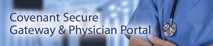 Covenant Health secure gateway and physician portal image link