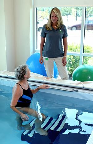 Aquatic therapy at LeConte Medical Center