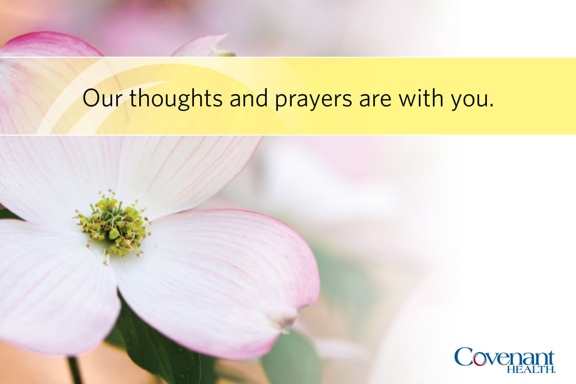 Covenant Cards - Our thoughts and prayers are with you