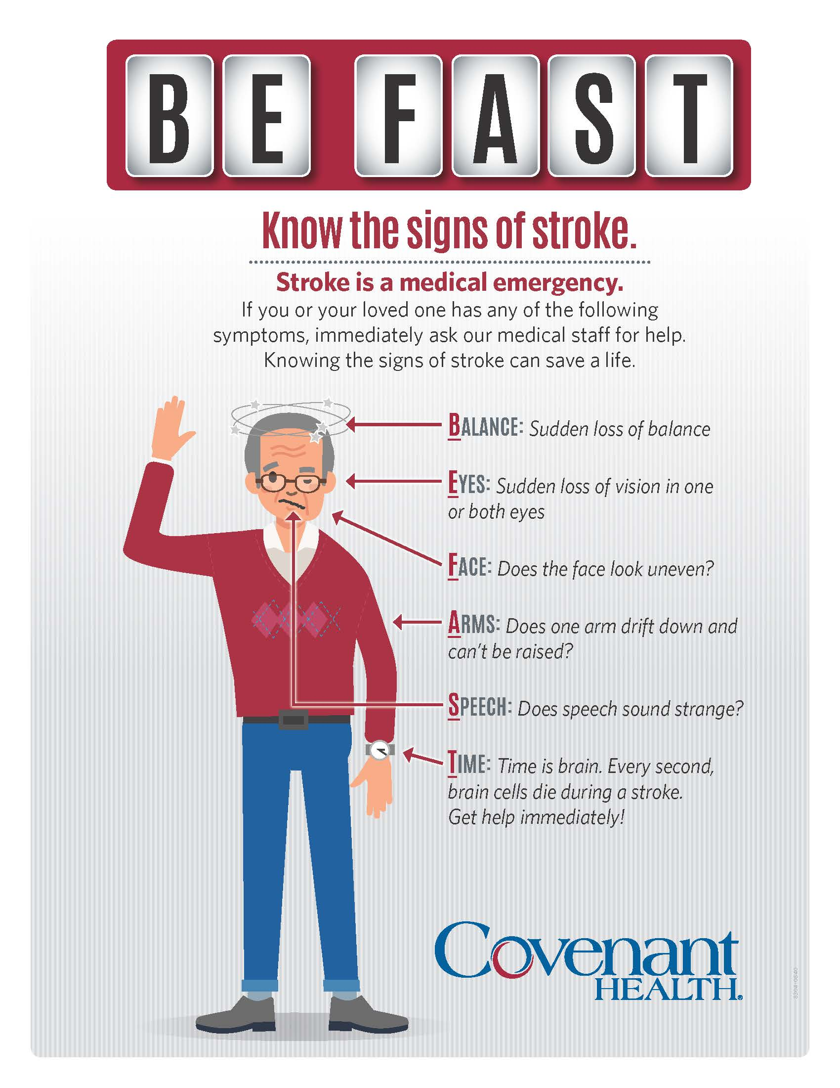 Know the signs of stroke