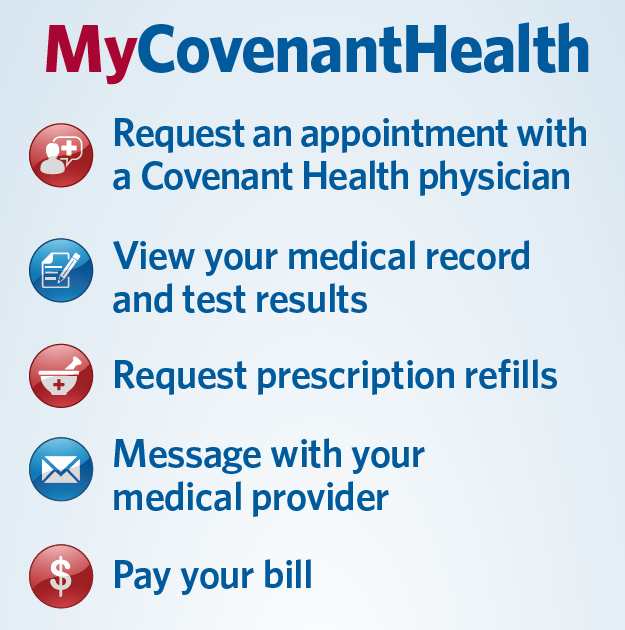 Features of MyCovenantHealth