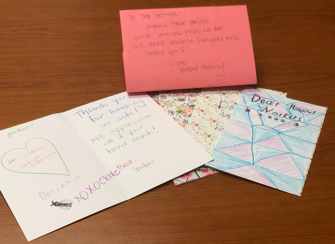 Thank you, Biddix Family, for sending these sweet handmade cards to our Parkwest Medical Center team. Your love and support was shared throughout our departments.