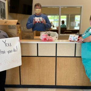Thank you to the Crossville Kentucky Fried Chicken in for donating more than 100 boxed lunches to the team at Cumberland Medical Center.