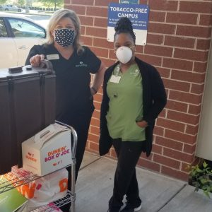Amedisys Hospice & Home Health and Harriman Care and Rehab made our morning by delivering Dunkin' Donuts for the frontline staff at Roane Medical Center.