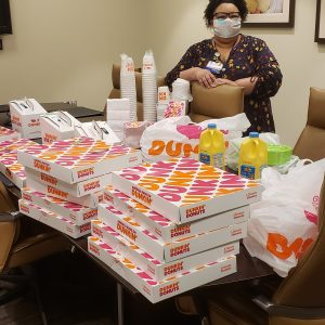 Amedisys Hospice & Home Health and Harriman Care and Rehab made our morning by delivering Dunkin Donuts for the frontline staff at Roane Medical Center.