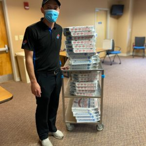 We appreciate Domino's Pizza of Crossville, for contributing 200 pizzas to cheer on the staff at Cumberland Medical Center.