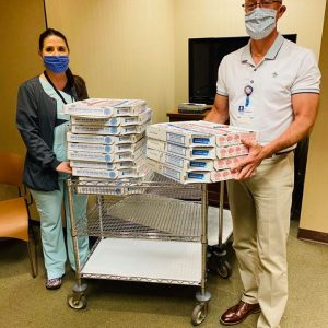 An extra-large-with-everything thanks to our friends at the Tri-Cities Domino's Division for their donation to the day and night staff members at Methodist Medical Center.