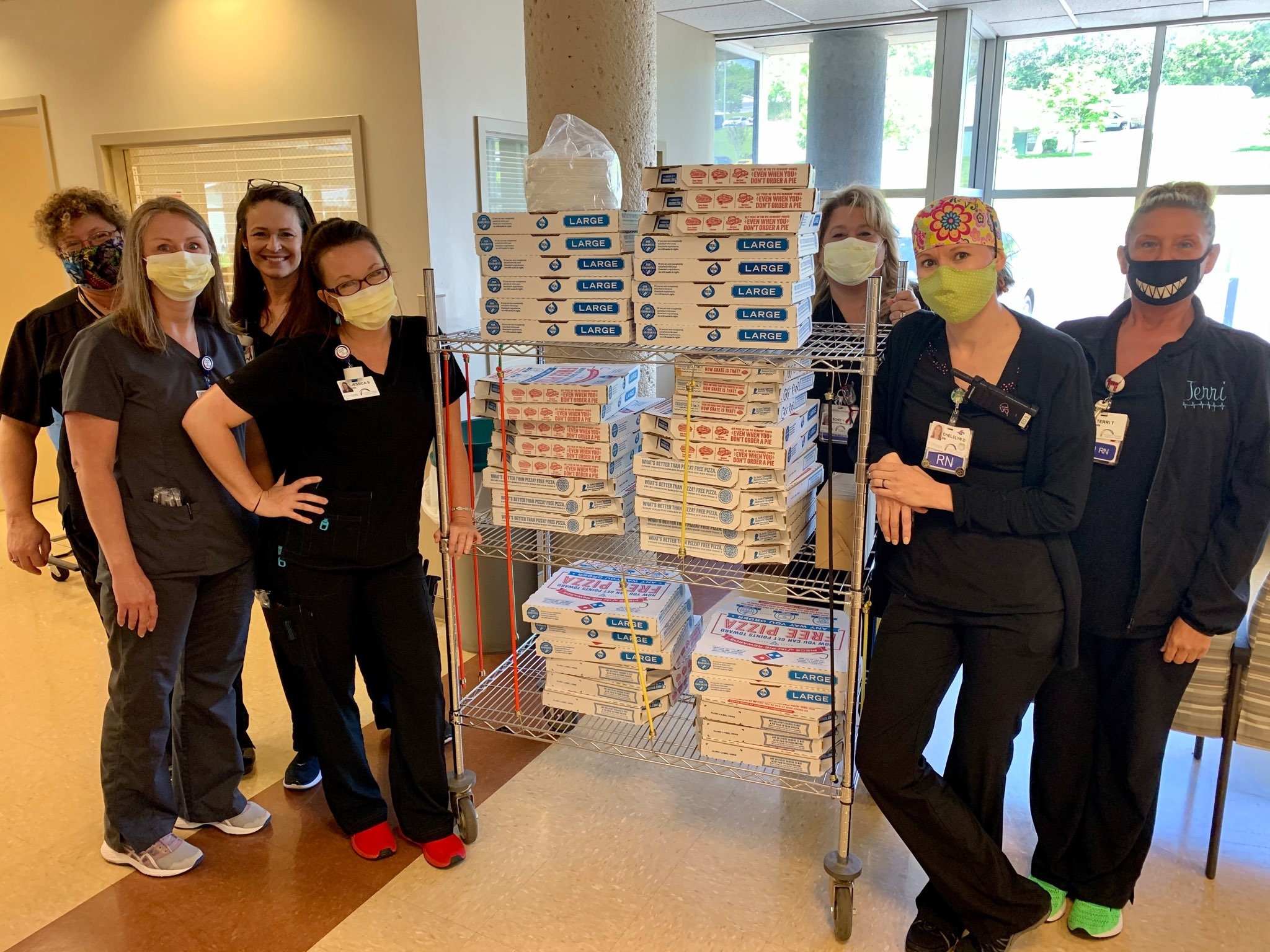 "As part of their ""Feed the Fight"" campaign, Dominos Pizza provided 50 pizzas to feed the Morristown-Hamblen staff during Nurse's Week."