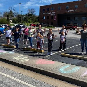 Special thanks to the First United Methodist Church Sunday School Class who blessed us with uplifting sidewalk chalk messages.