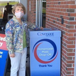 Special thanks to Cumberland Medical Center Patient Family Advisory Council Chair, Glenda Bond, for donating hand-sewn masks for the Covenant Health Mask Challenge.