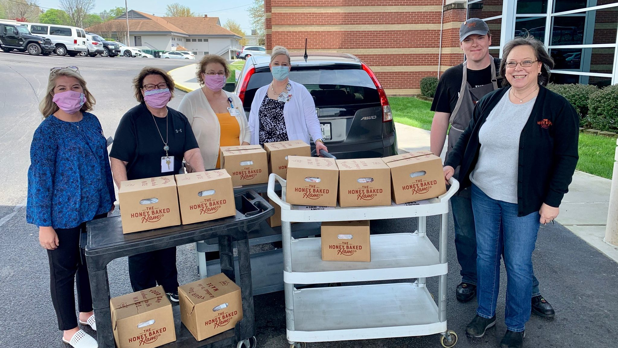 Honey Baked Ham Co. generously donated 12 hams to feed our entire hospital staff on Good Friday. We are grateful to be blessed with such amazing support.