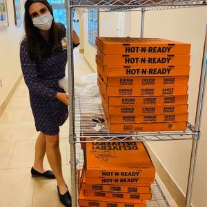 Little Caesars donated more than 100 pizzas to feed all day shift and night shift employees at LeConte Medical Center.