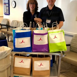 Morningside Baptist Church, one of the first donations we received, made gift baskets for our admissions department.