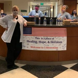 Thanks to our friends Dino Cartwright, Hope Unlimited Church, and Bridgewater Place for providing dinner to the night staff at Parkwest Medical Center.