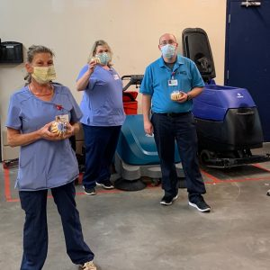 Thank you to Nothing Bundt Cakes for the delivery to the Fort Sanders Regional Environmental Services team, who've tirelessly worked to keep the hospital clean and safe.