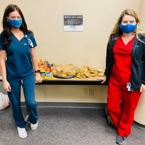 Our thanks to the Oak Ridge High School Boys Soccer Club Boosters and Kroger for donating 160 sandwiches to Methodist Medical Center team members.