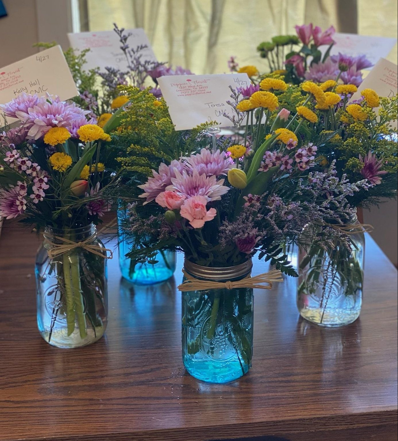 Thank you Poppies Florist of Crossville! Your thoughtful Essential Worker Bouquets are a perfect touch. We appreciate you for regularly recognizing our team members!