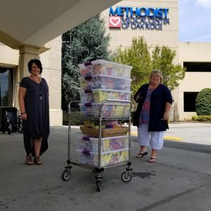 What a wonderful snack surprise from the ladies at the Women's Ministry of Second Baptist Church in Clinton. Each snack was also accompanied by handwritten note of thanks and encouragement for Methodist Medical Center staff members. It definitely brought sweet smiles to all our caregivers.