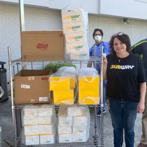 A longtime benefactor of Morristown-Hamblen, and local Subway franchise owner, generously donated nearly 200 boxed lunches to the entire hospital staff.