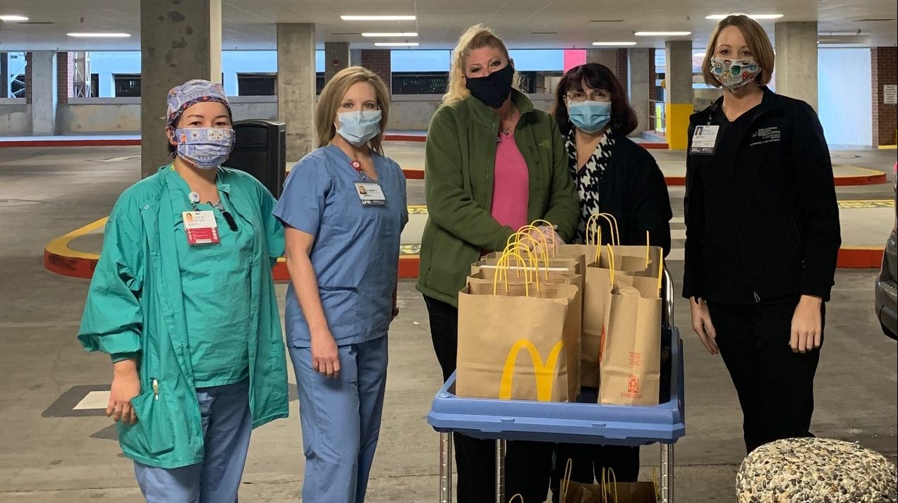 A supersize thank you to the Burger Family McDonald's for providing breakfast to the Fort Sanders Regional Emergency Department.