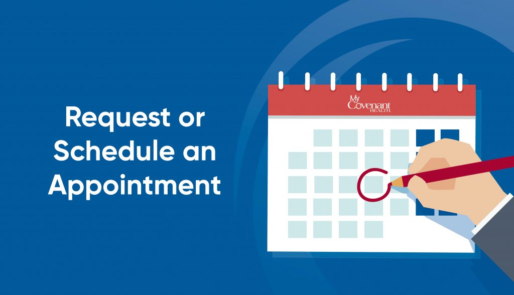 schedule appointment graphic with a graphic of calendar and a circled date