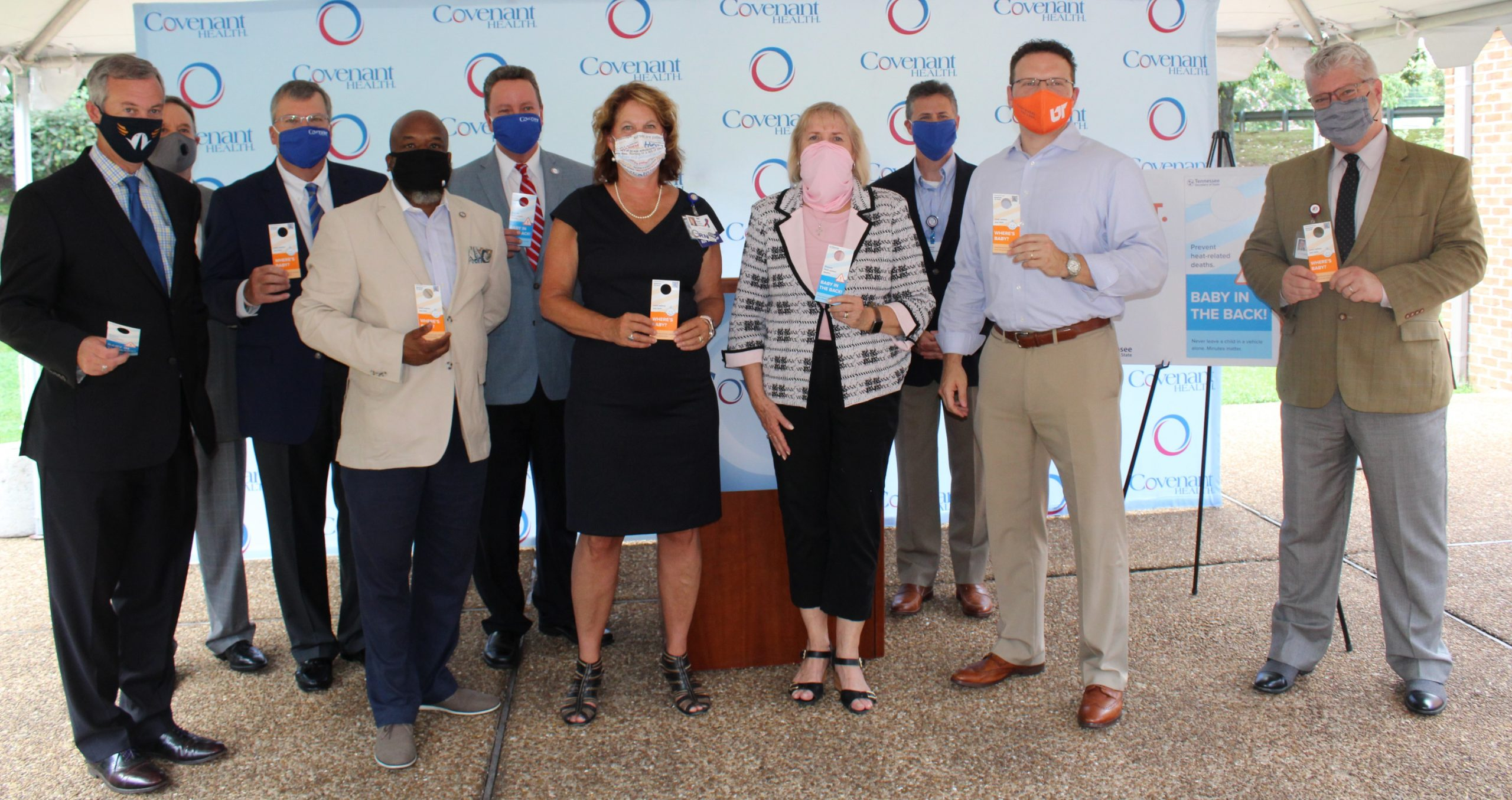 TN legislators with Covenant Health leaders announce hangtag initiative