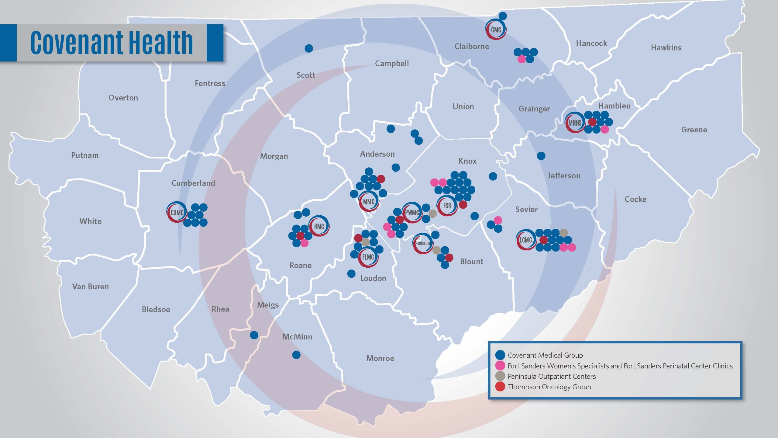 Business Health Solutions Facilities Map