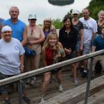 Missy Kane and hikers at Panther Creek State Park